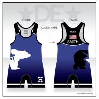 Benton City Blue Singlet with Name
