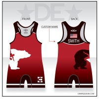Benton City Red Singlet with Name