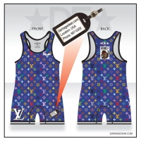 LV Mens Blue 867-5309 Singlet