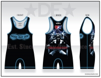 Est. Since Day One Womens Black and Blue Singlet