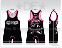 Est. Since Day One Womens Black and Pink Singlet