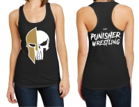 Punisher Wrestling Ladies Skull Logo Tank