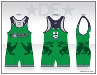 Vandit Green Womens High Cut Singlet