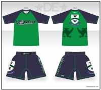 Vandit Green/Navy Shirt/Short Combo