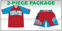 Jr Grizzlies Rash Guard and Fight Short Pack
