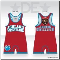 Junior Grizzlies Womens Red Singlet