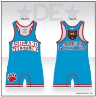Junior Grizzlies Mens Blue Singlet