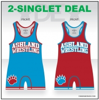Jr Grizzlies Mens High Cut Singlet Pack
