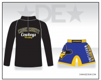 Crook County Black 1/4 Zip and Blue Fight Shorts Package