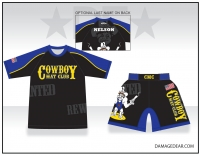 Cowboy Mat Club Rash Guard and Fight Shorts Package