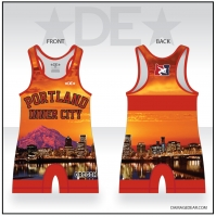 Portland Inner City Womens Red Singlet