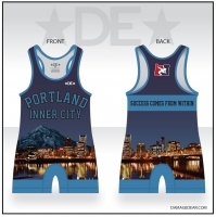 Portland Inner City Womens Blue Singlet