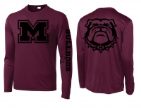 Montesano Maroon LS Performance Shirt