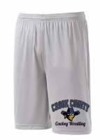 Crook County Performance Shorts - Silver