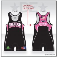 Freedom Wrestling Academy Womens Black Singlet