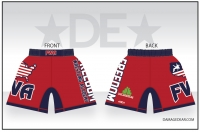 Freedom Wrestling Academy Red Fight Shorts