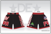 Freedom Wrestling Academy Black Fight Shorts