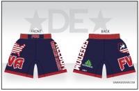 Freedom Wrestling Academy Navy Fight Shorts