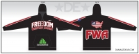 Freedom Wrestling Black Sublimated Hoodie