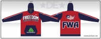 Freedom Wrestling Red Sublimated Hoodie