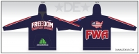 Freedom Wrestling Navy Sublimated Hoodie