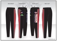 Freedom Wrestling Academy Black Warmup Pants
