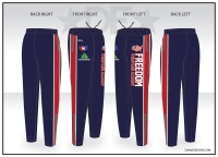 Freedom Wrestling Academy Navy Warmup Pants