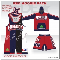 Freedom Wrestling Red Hoodie Pack