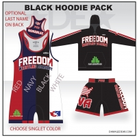 Freedom Wrestling Black Hoodie Pack
