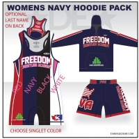 Freedom Wrestling Womens Navy Hoodie Pack