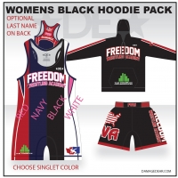 Freedom Wrestling Womens Black Hoodie Pack
