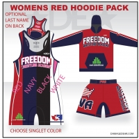 Freedom Wrestling Womens Red Hoodie Pack