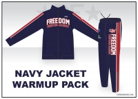 Freedom Wrestling Navy Jacket Warmup Pack