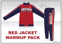 Freedom Wrestling Red Jacket Warmup Pack