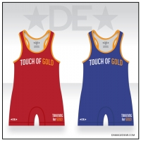 Touch of Gold Wrestling Red and Blue Singlet Pack