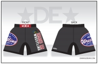 Damaged Ear Charcoal No-Fly Fight Shorts