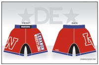 Lebanon Wrestling Red Fight Shorts