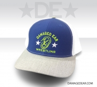 Damaged Ear Cap - Royal/White/Heather