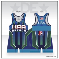 2019 Team Oregon Blue Singlet