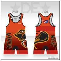 Viper West Red Freestyle Singlet