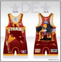 Wyoming Mens Bull Rider Singlet - Red