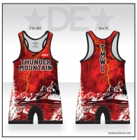 Thunder Mountain Red Lightning Singlet