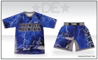 Thunder Mountain Lightning Sub Shirt and Fight Shorts Pack