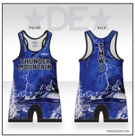 Thunder Mountain Blue Lightning Singlet