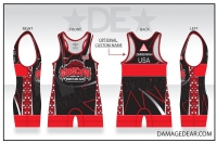 Moscow Wrestling Club Red Banded Singlet