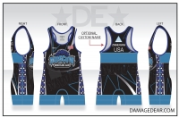 Moscow Wrestling Club Blue Banded Singlet