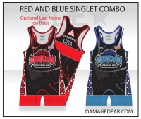 Moscow Wrestling Club Red/Blue Singlet Combo