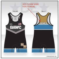 Broken Arrow Blue Banded Singlet