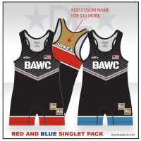 Broken Arrow Red/Blue Singlet Combo