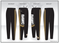 Broken Arrow Black Warmup Pants